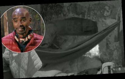 I'm A Celebrity 2020: Mo Farah hilariously falls out of his hammock