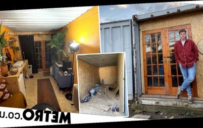 Man swaps his three-bed house for a shipping container and saves £700 a month