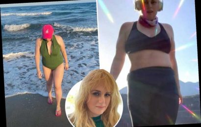Rebel Wilson shows off her six-pack abs in new photos after 40-pound weight loss and tells fans 'continue to crush!'