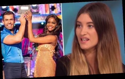 Charley Webb tells co-star Kelvin Fletcher 'don't get cocky' after he mocks her dancing