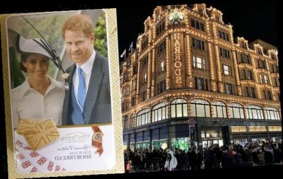 Prince Harry and Meghan Markle's biscuit tin flogged for £3.99
