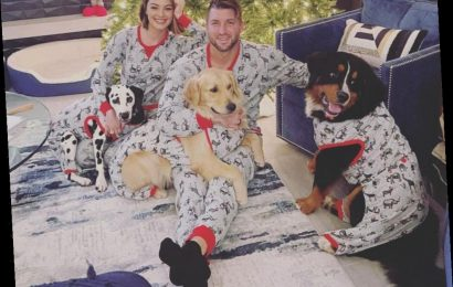 Tim Tebow and Wife Demi-Leigh Nel-Peters Have 'Christmas Pajama Party' with Their 3 Dogs