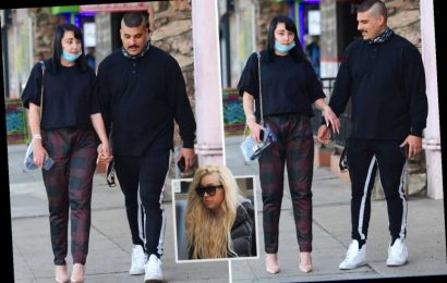 Amanda Bynes holds hands with fiance Paul Michael as she is seen for the first time in six months