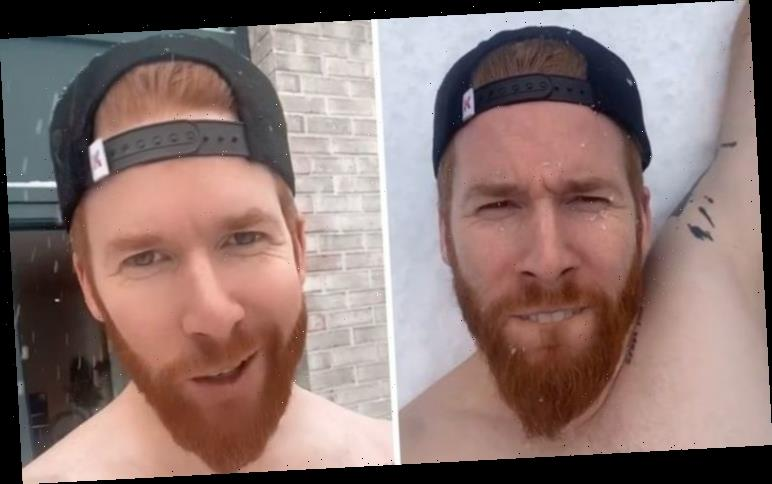 Neil Jones: Newly single dancer queried by fans as he plays in the snow NAKED 'Feels good'