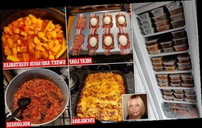 Mum shows off her VERY organised freezer with 108 batch cooked meals