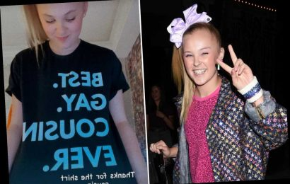 JoJo Siwa wears 'best gay cousin' shirt after possibly coming out