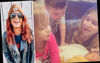 Teen Mom Chelsea Houska's kids meet their new sister Walker June as the star says 'I can't believe they are mine'