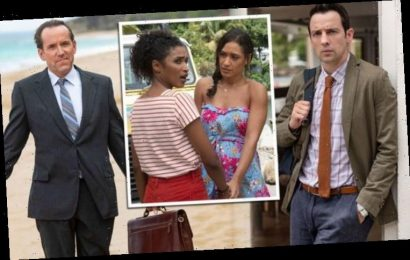 Death In Paradise cast old and new cause a stir as they come together for amusing 'improv'