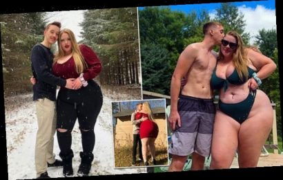 250LB woman finds love with fitness trainer half her size