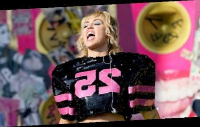 Miley Cyrus Rocks White Crop Top In New Video From Her 'Pre-Game Turn Up' Before Super Bowl