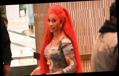 Cardi B Wears Long Red Wig While Celebrating 'Up' Release