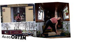 Covid forced yoga teacher onto her narrowboat and now has clients worldwide