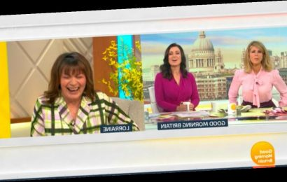Lorraine left mortified as turned on mic leaks private chat in GMB fail