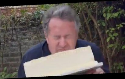 Piers Morgan's boozy birthday bash ends in disaster with birthday cake mishap
