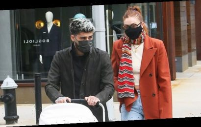 Gigi Hadid & Zayn Malik Lovingly Look After Baby Khai, 7 Mos., On Family Walk In NYC: See Pics
