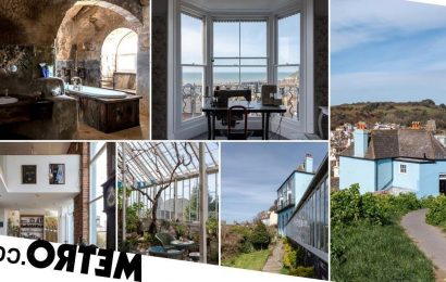 Cliff-side property with a bathroom in a cave goes on sale for £1.5million