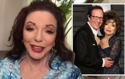 Joan Collins 'embarrassed' as dress cut off in hospital dash 'Not much underwear on'