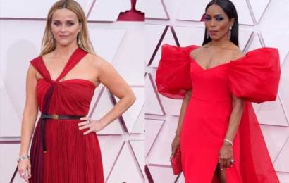 These Romantic Red Gowns at the 2021 Academy Awards Won the Red Carpet — See Arrival Photos