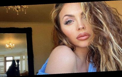 Jesy Nelson ditches bra as shirt falls off her shoulders in racy bedroom snap