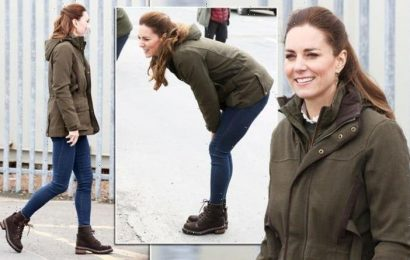 Big change for Kate as Duchess of Cambridge swaps skirts for skinny jeans in Scotland