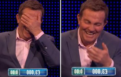 Bradley Walsh laughs so hard on The Chase he is unable to finish his question after contestant's hilarious answer