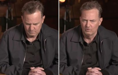 Friends fans are concerned as Matthew Perry appears to slur his words & nod off in reunion promo clip