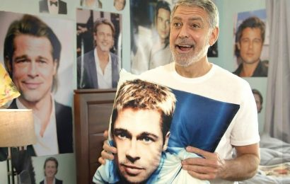 George Clooney Shows Room Full of Brad Pitt Posters in 'World's Worst Pandemic Roommate' Sketch