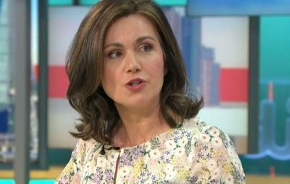 Susanna Reid corrected by her GMB co-host Alistair Campbell ahead of TV debut