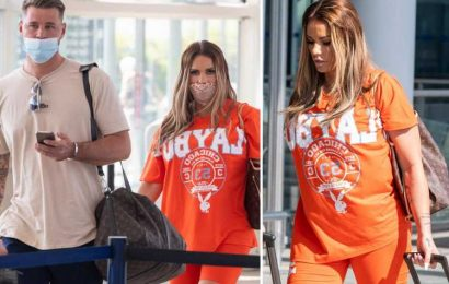 Katie Price jets off on THIRD holiday as she flies to Turkey on £12,000 surgery trip with Carl Woods