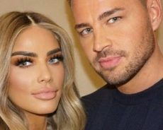 Katie Price posts gushing tribute to fiancé Carl Woods to mark one year together