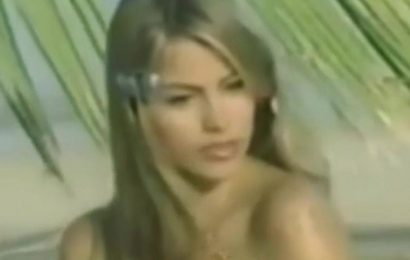 Sofia Vergara appears ageless as she frolics on beach in throwback topless shoot