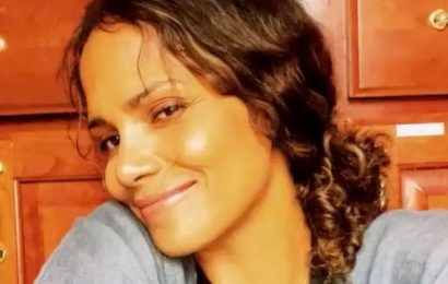 Halle Berry demands attention as she flashes legs for sultry bath time snap