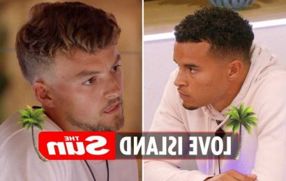 Love Island villa splits in two as explosive feud kicks off after Toby fumes Hugo is a 'two-faced mug'