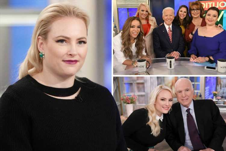 Meghan McCain QUITS The View on-air after being 'done' with co-star clashes & jokes they have '4 weeks of fighting left'