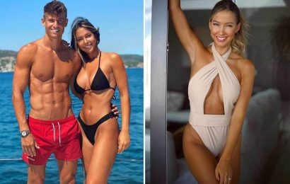 Paddy Noarbe poses in swimsuit ahead of partner Marco Llorente's Euros tie