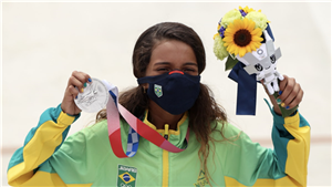 Skateboarder Rayssa Leal, Former Viral Vine Star, Just Won an Olympic Silver Medal at 13