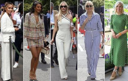 Stars glam up for Wimbledon day seven