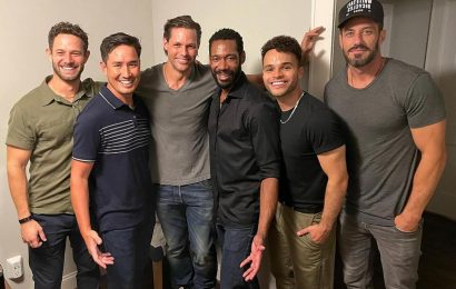 Sweet Magnolias fans thirst over the 'delicious men of Serenity' in new cast photo as Season 2 filming wraps up