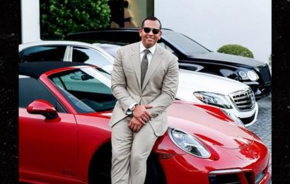 A-Rod Poses with Red Porsche He Gifted J Lo for Her 50th Bday