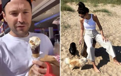 Inside Mark Wright and Michelle Keegan's seaside 'staycation' with chips, arcades and walks on the beach