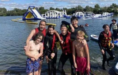 Joe Swash shares rare photo of son Harry, 14, as pair enjoy day out at water park