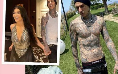 Kourtney Kardashian's 'Love' & 'Confidence' Helped BF Travis Barker Overcome Fear Of Flying: 'He Can Do Anything With Her By His Side'