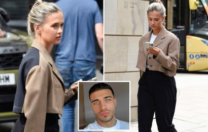 Molly-Mae Hague looks downcast after she's forced to deny Tommy Fury split