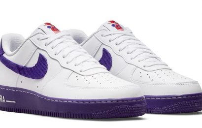 """Nike Air Force 1 Low """"Sports Specialties"""" Features Purple Corduroy Details"""