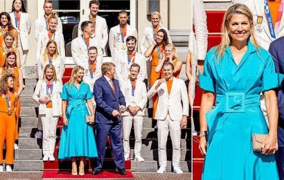 Queen Maxima and King Willem-Alexander meet Olympic medal winners