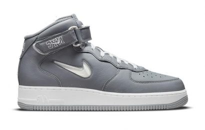 """Nike's Air Force 1 Mid NYC """"Cool Grey"""" Features Jeweled Swooshes"""