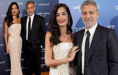 George Clooney cosies up to his wife Amal at The Tender Bar photocall