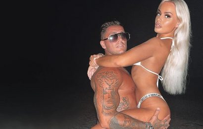 Stephen Bear horrifies fans as he strips naked and girlfriend Jessica performs sex act on him on Maldives beach