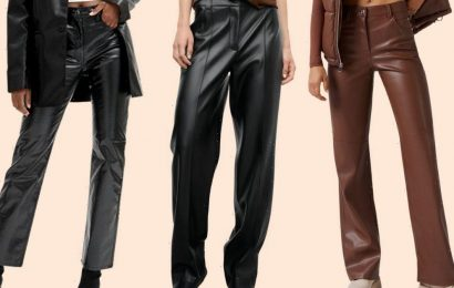 The best leather trousers from £18 inspired by celebrities like Molly-Mae Hague and Kim Kardashian